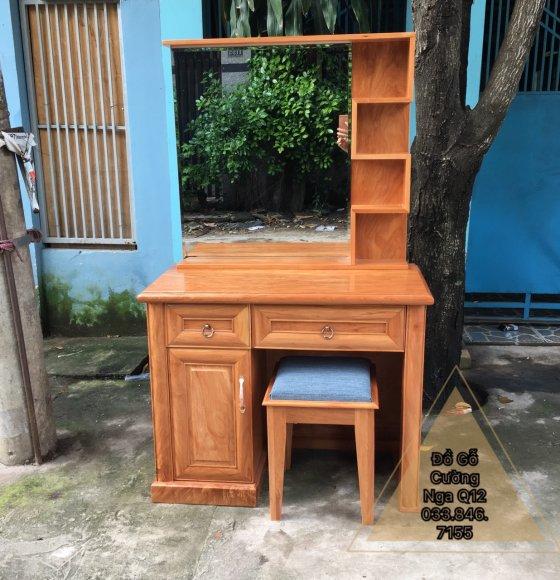 Bàn Trang Điểm Gỗ Gõ Đỏ 80cm
