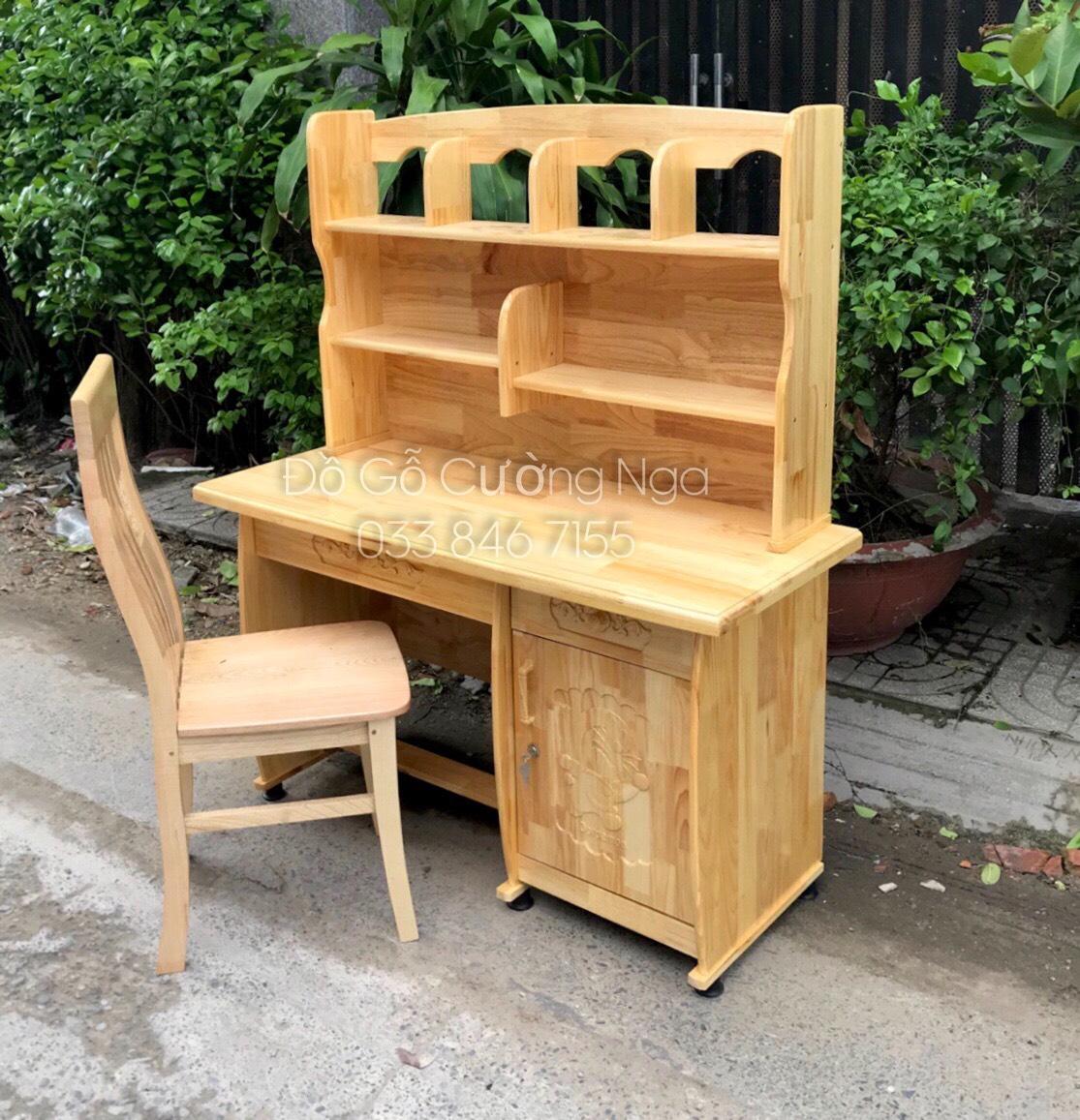 Bộ bàn ghế học sinh gỗ thông giá rẻ