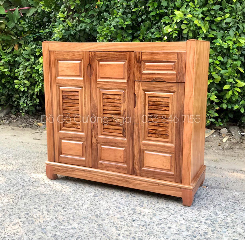 Tủ giày dép gỗ tự nhiên