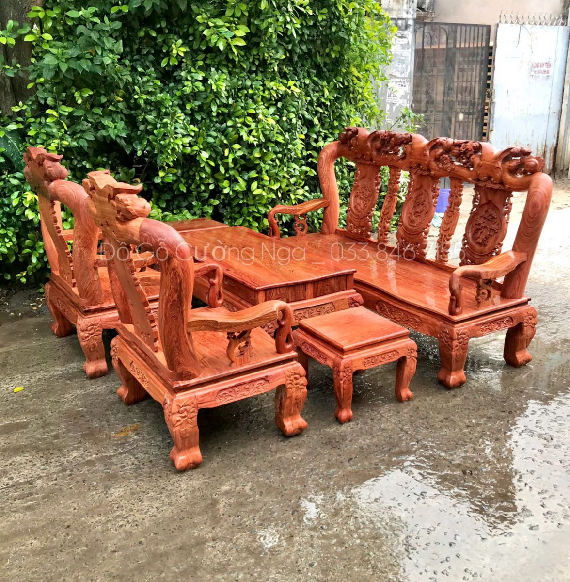 salon gỗ hương đá tay 12