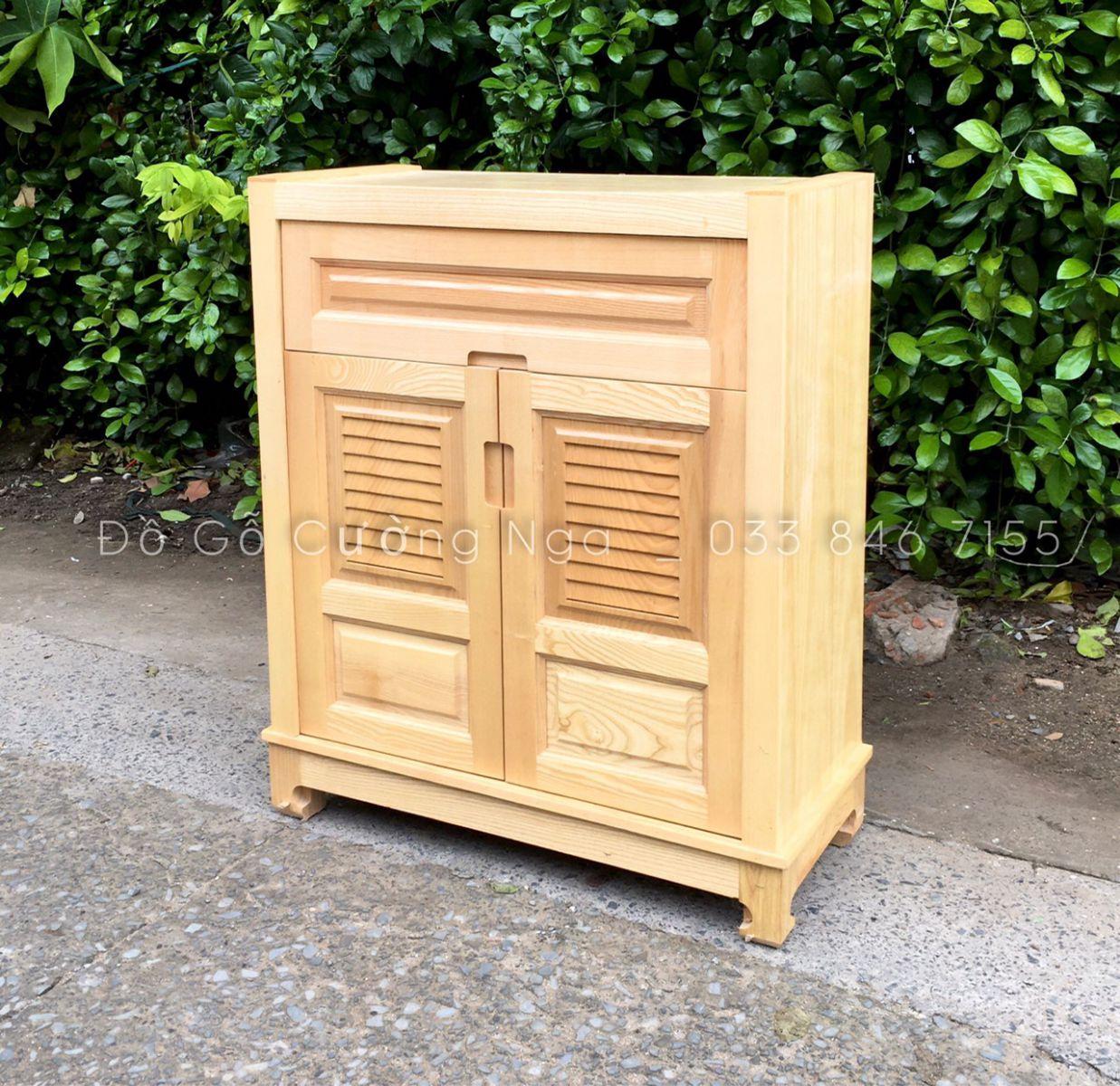 Tủ giày dép gỗ sồi nga 80 cm - 2 cánh giá rẻ