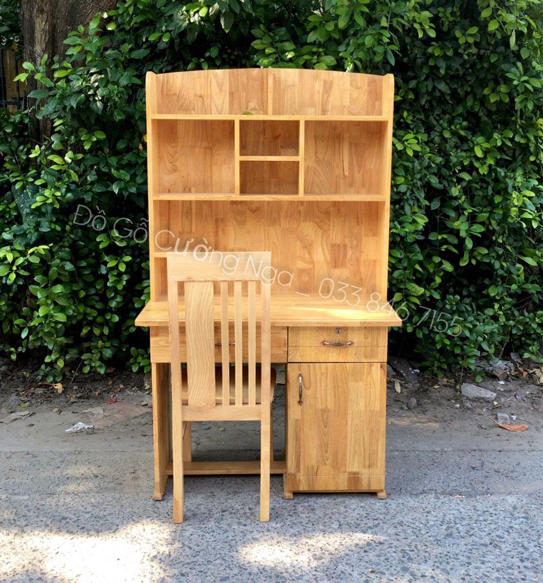 Bộ bàn ghế học sinh gỗ tự nhiên