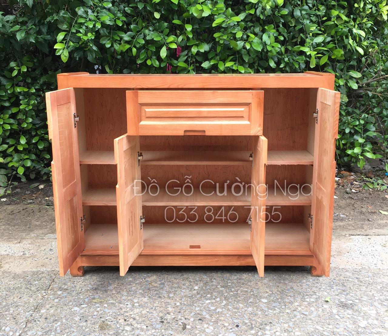 Tủ giày dép gỗ sồi nga 1m2