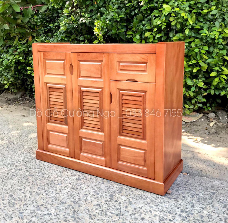 Tủ giày dép gỗ xoan đào