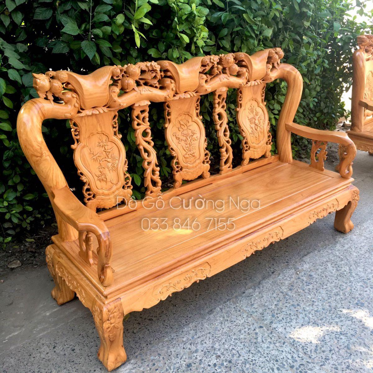 salon gỗ gõ đỏ tay 10 6 món