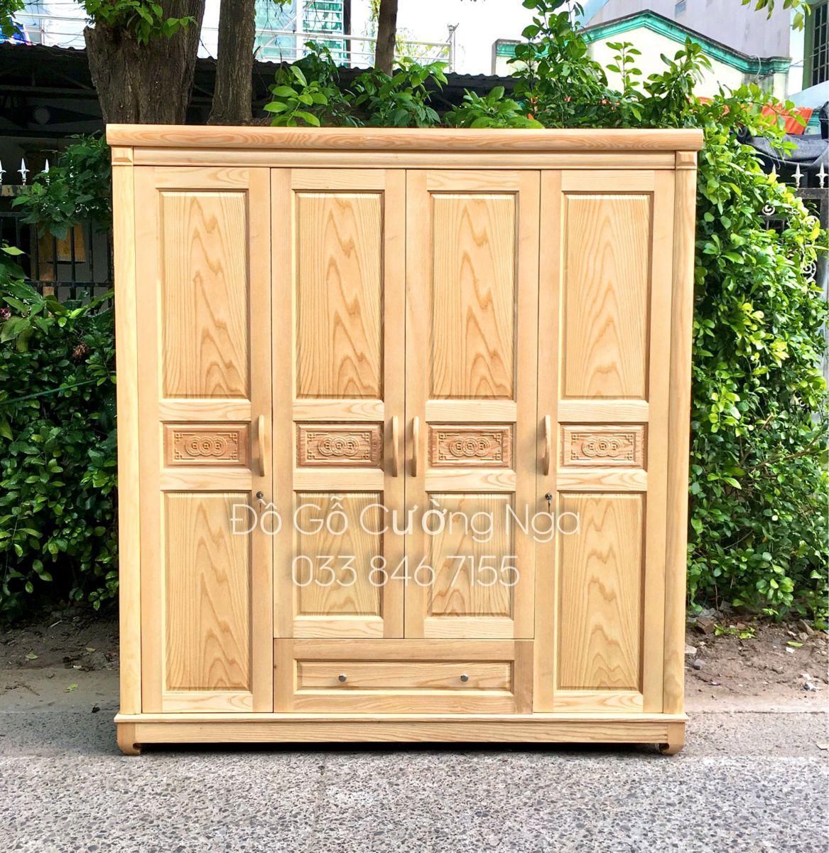 tủ quần áo gỗ sồi nga