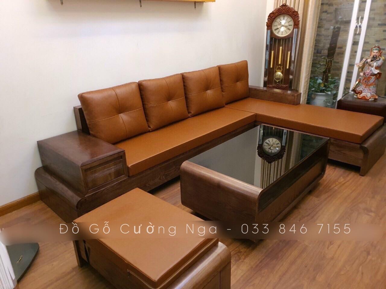 bàn ghế sofa gỗ sồi nga giá rẻ