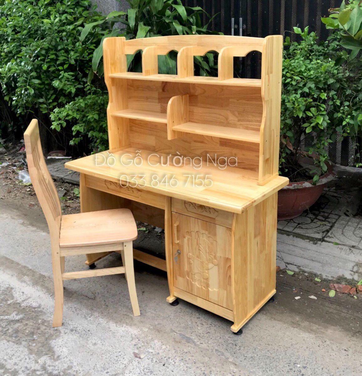 bàn học sinh gỗ thông
