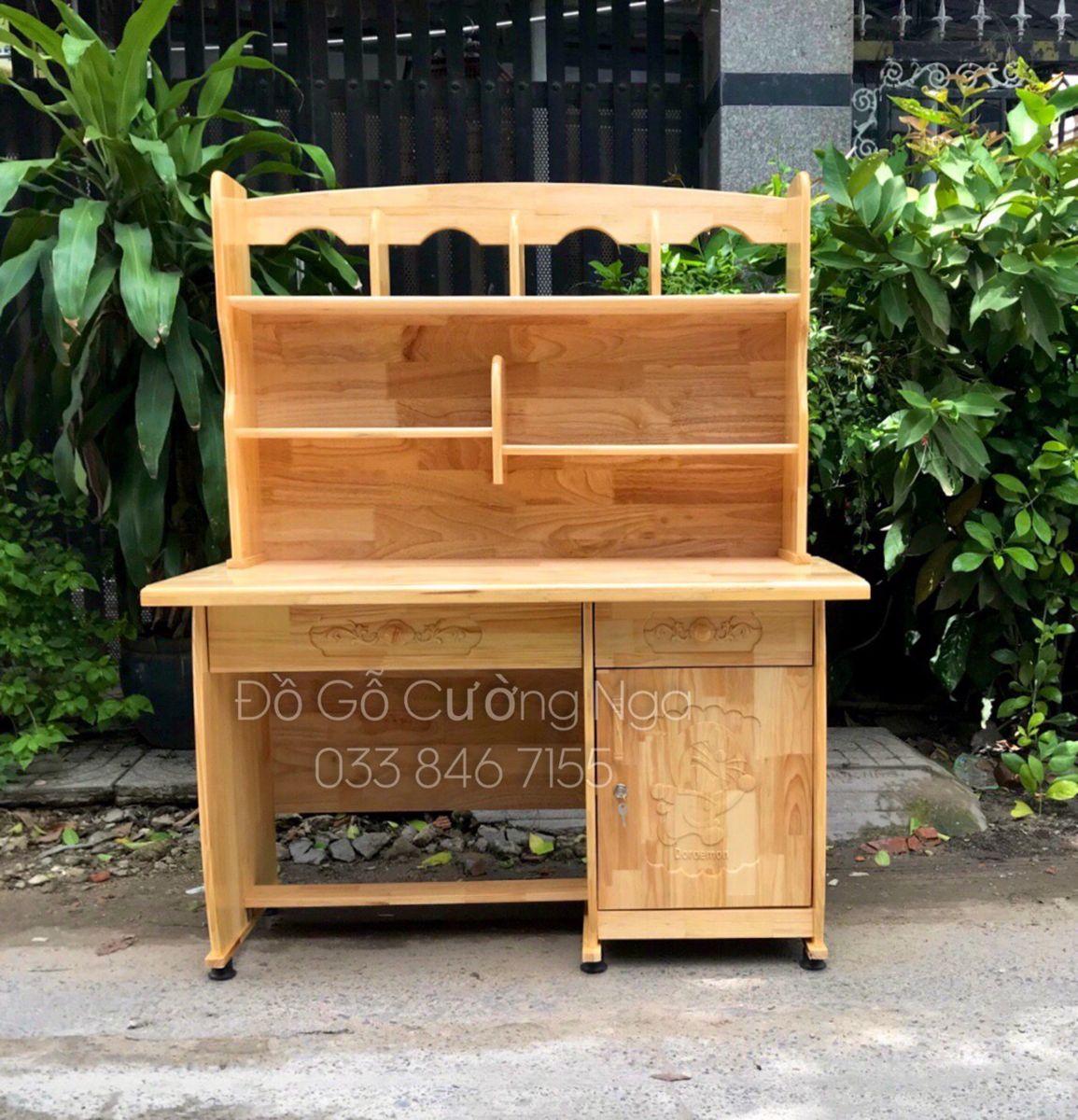 bàn học gỗ thông