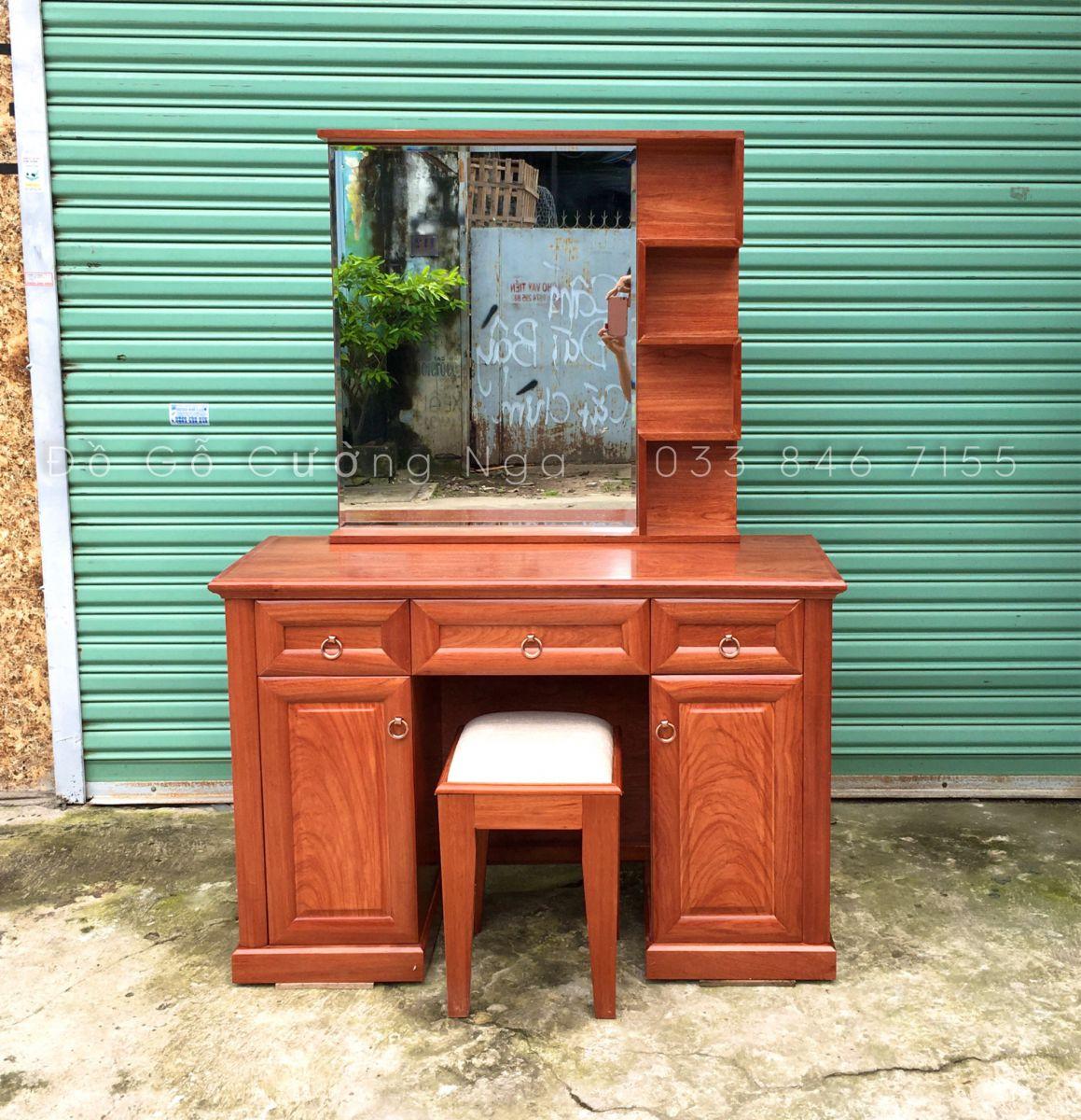 bàn trang điểm gỗ hương đá