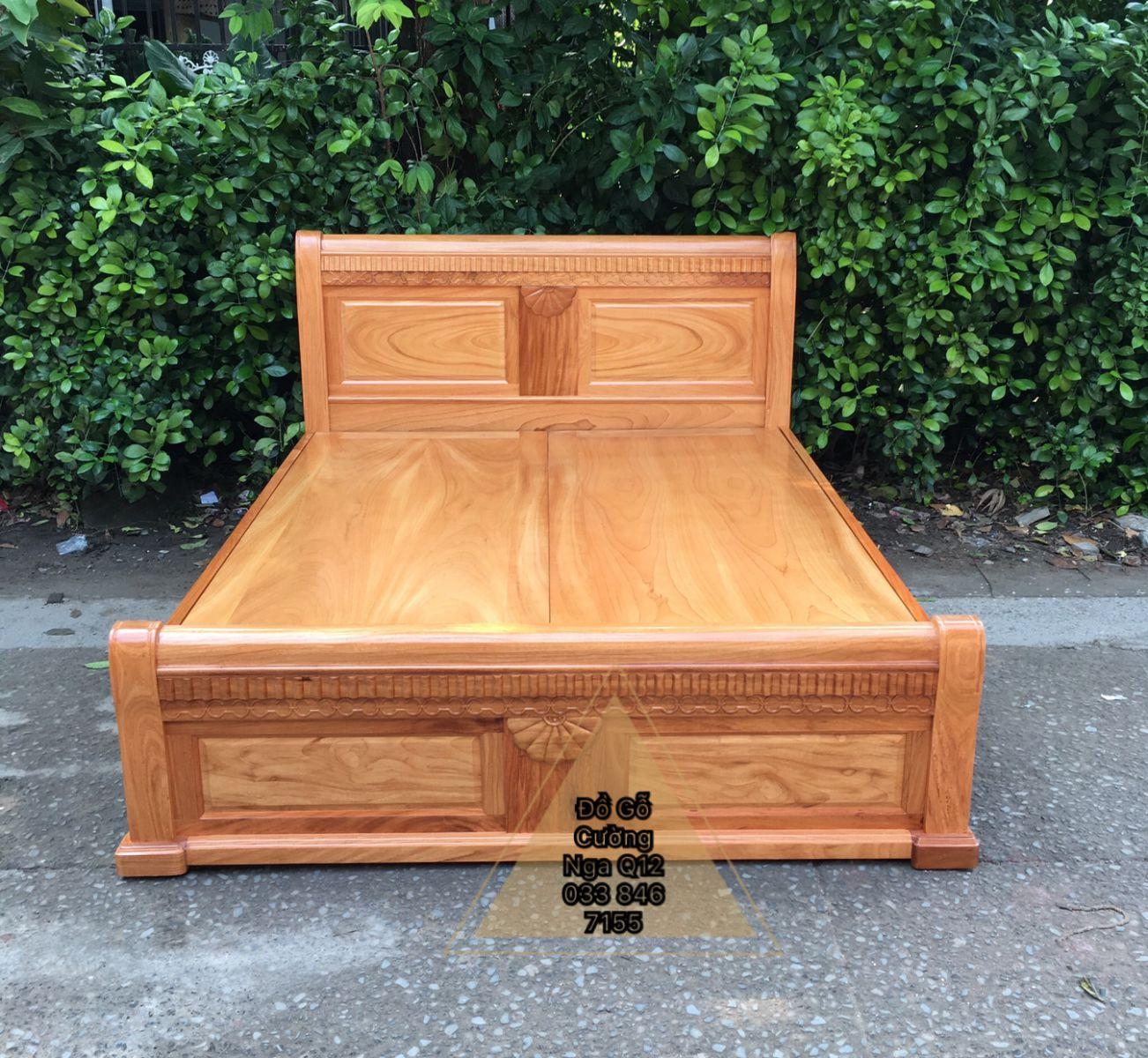 giường gỗ gõ đỏ 1m6x2m