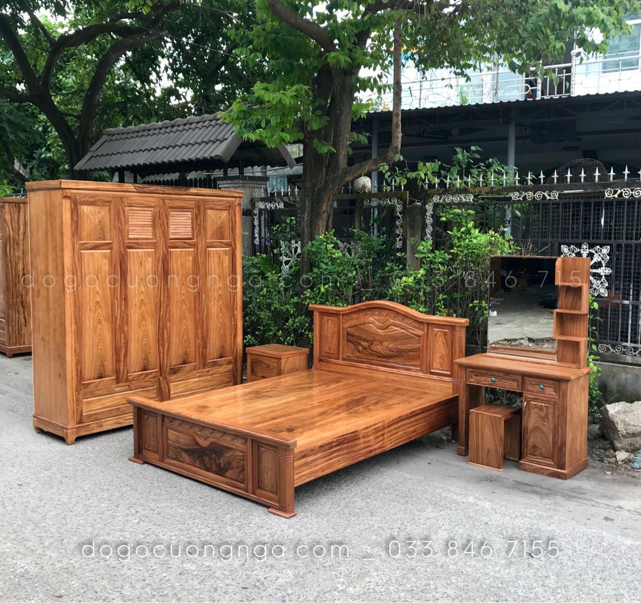 Combo phòng ngủ gỗ hương xám