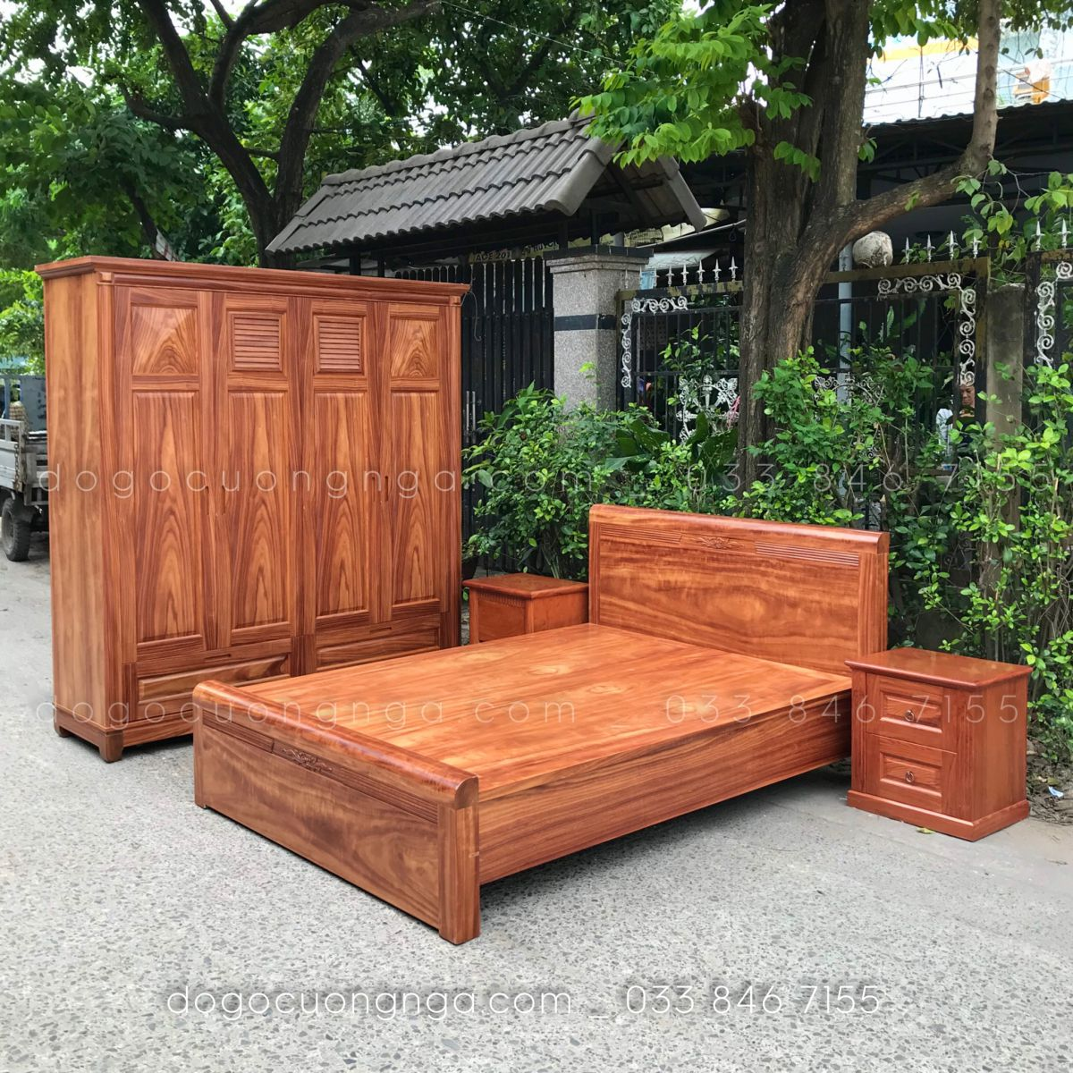 Combo phòng ngủ gỗ cẩm