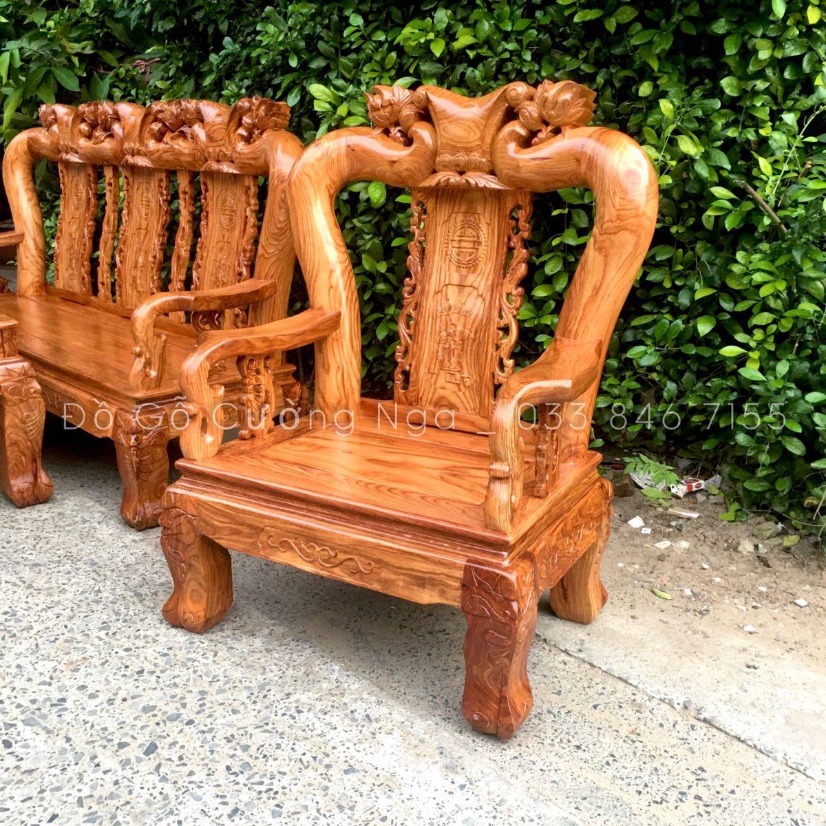 salon gỗ  hương vân