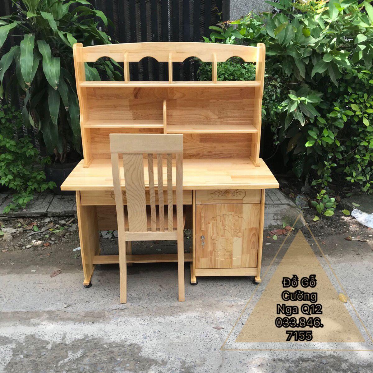 bàn học gỗ thông giá rẻ
