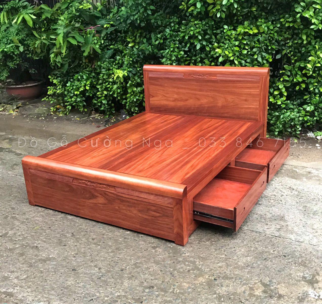 giường ô keo gỗ cẩm