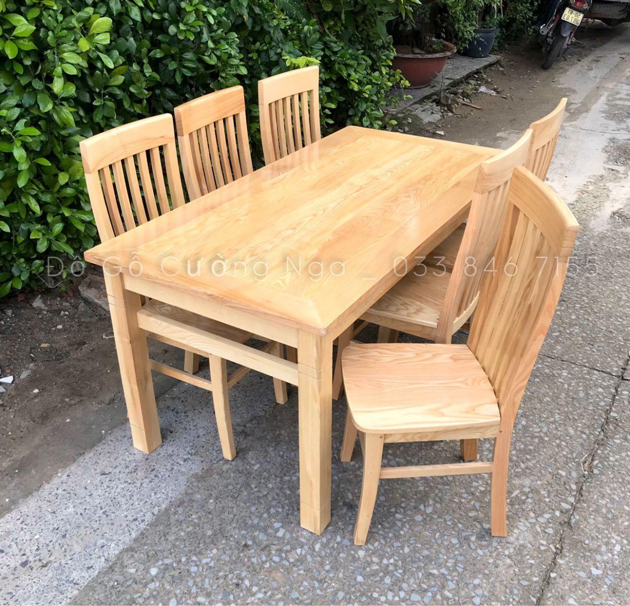 bàn ăn gỗ sồi nga giá rẻ