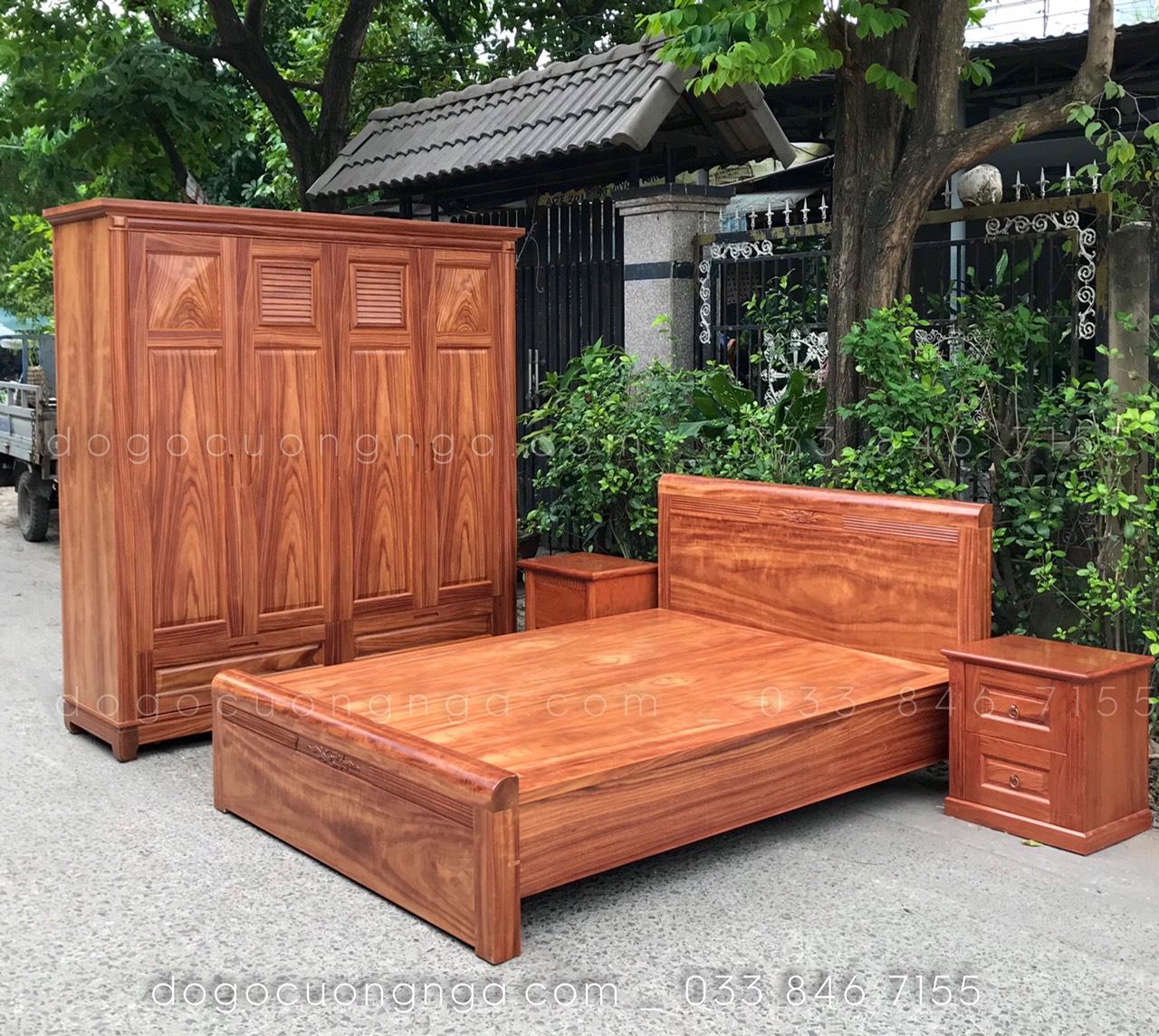 bộ phòng ngủ gỗ hương đá