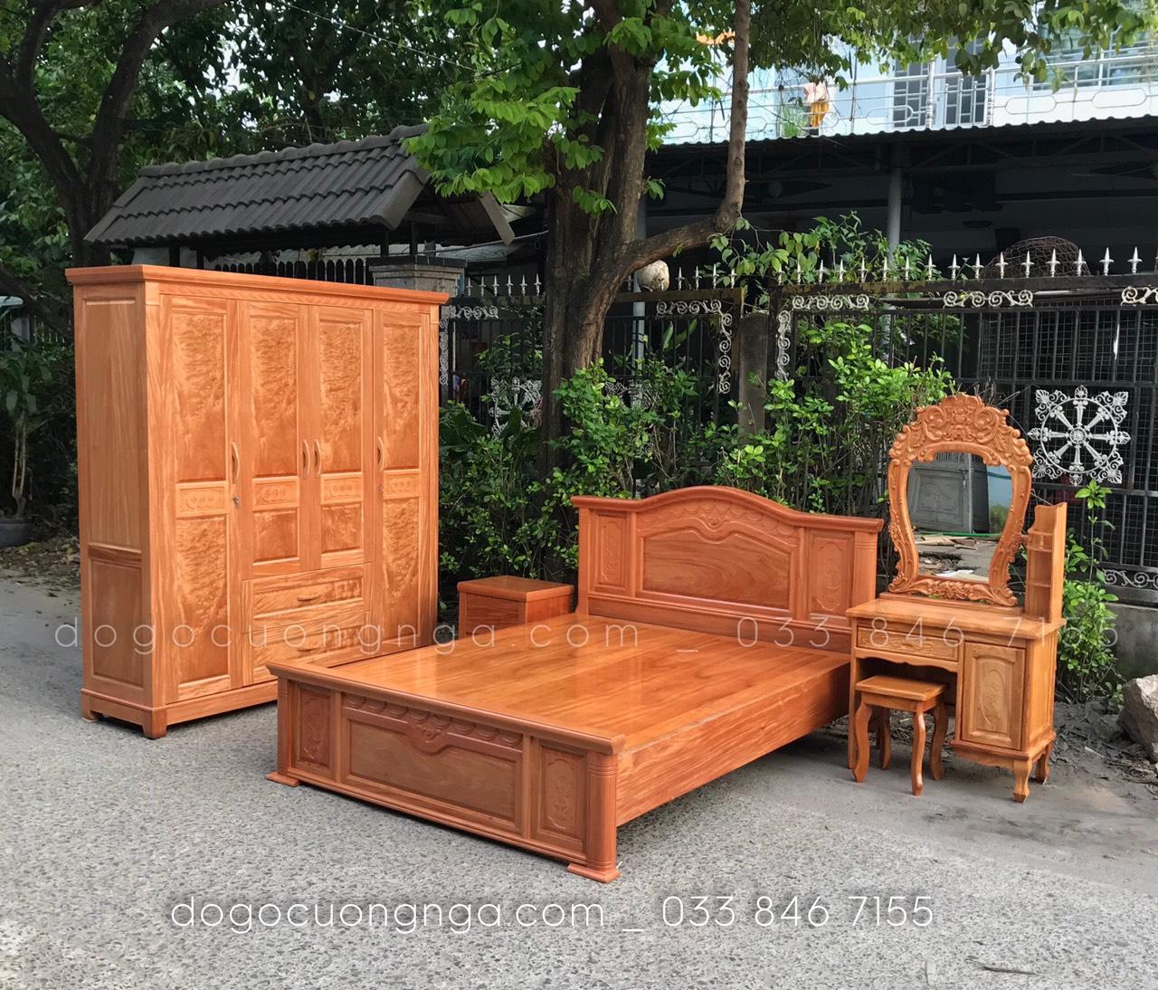conbo 4 gỗ hương đá nữ hoàng - gương tròn