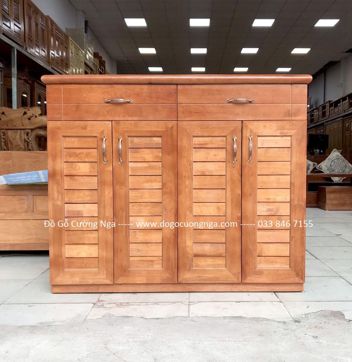 Tủ giày dép gỗ cao su 1m2