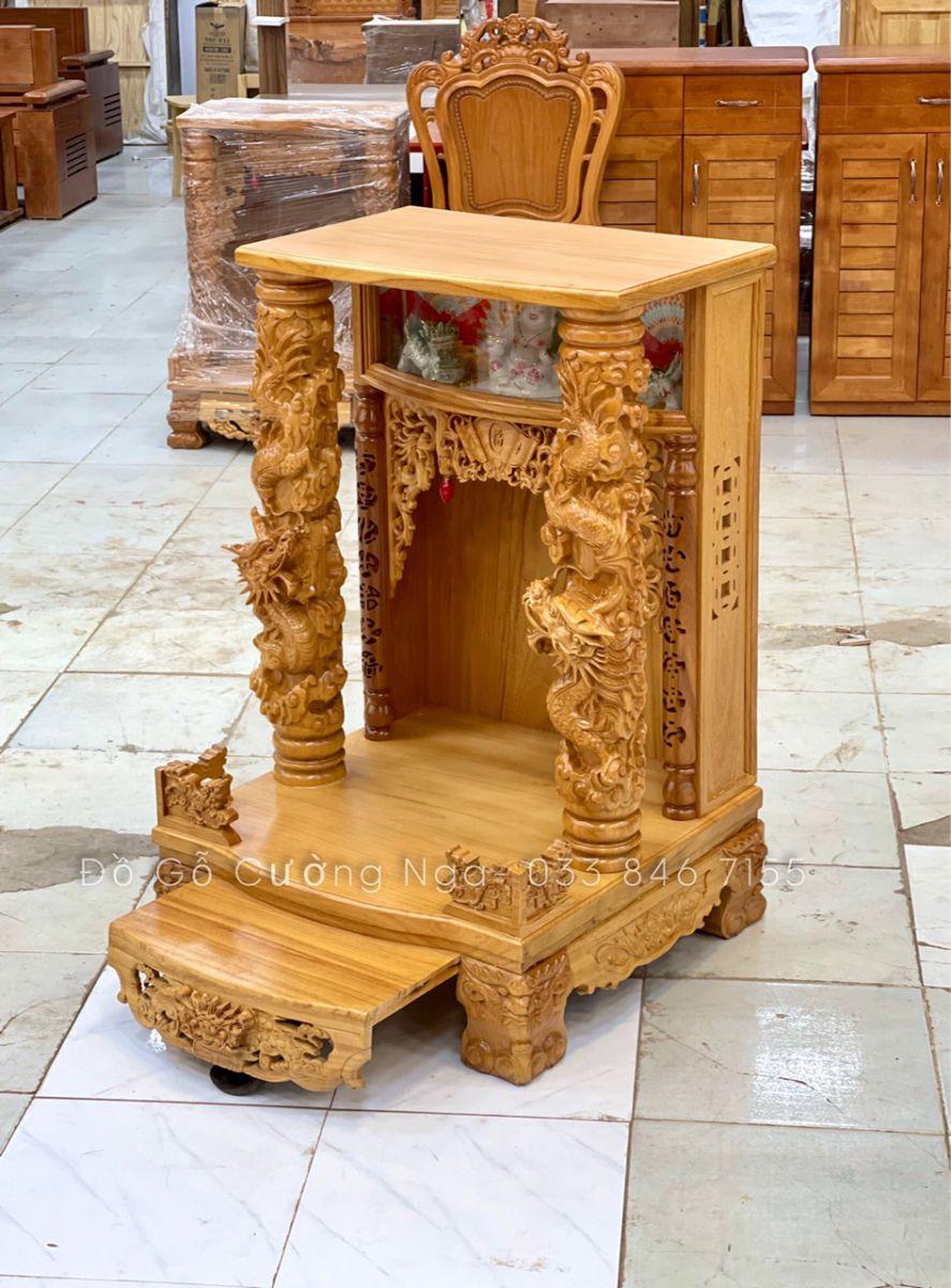 bàn thờ ông địa gỗ gõ đỏ