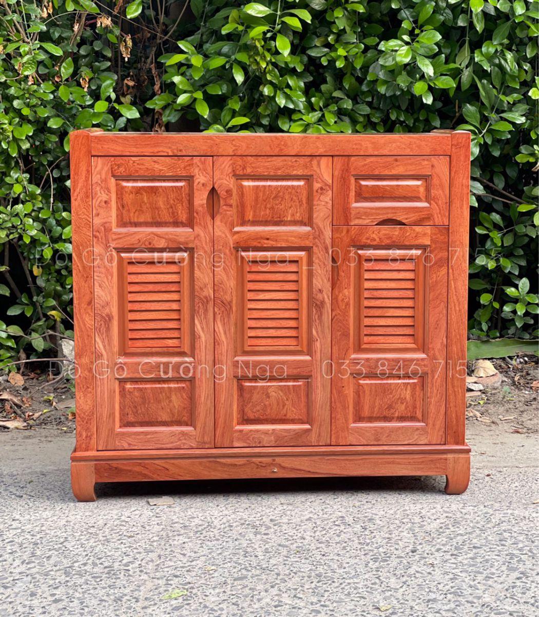 Tủ giày dép gỗ Hương Đá 3 cánh - 1m