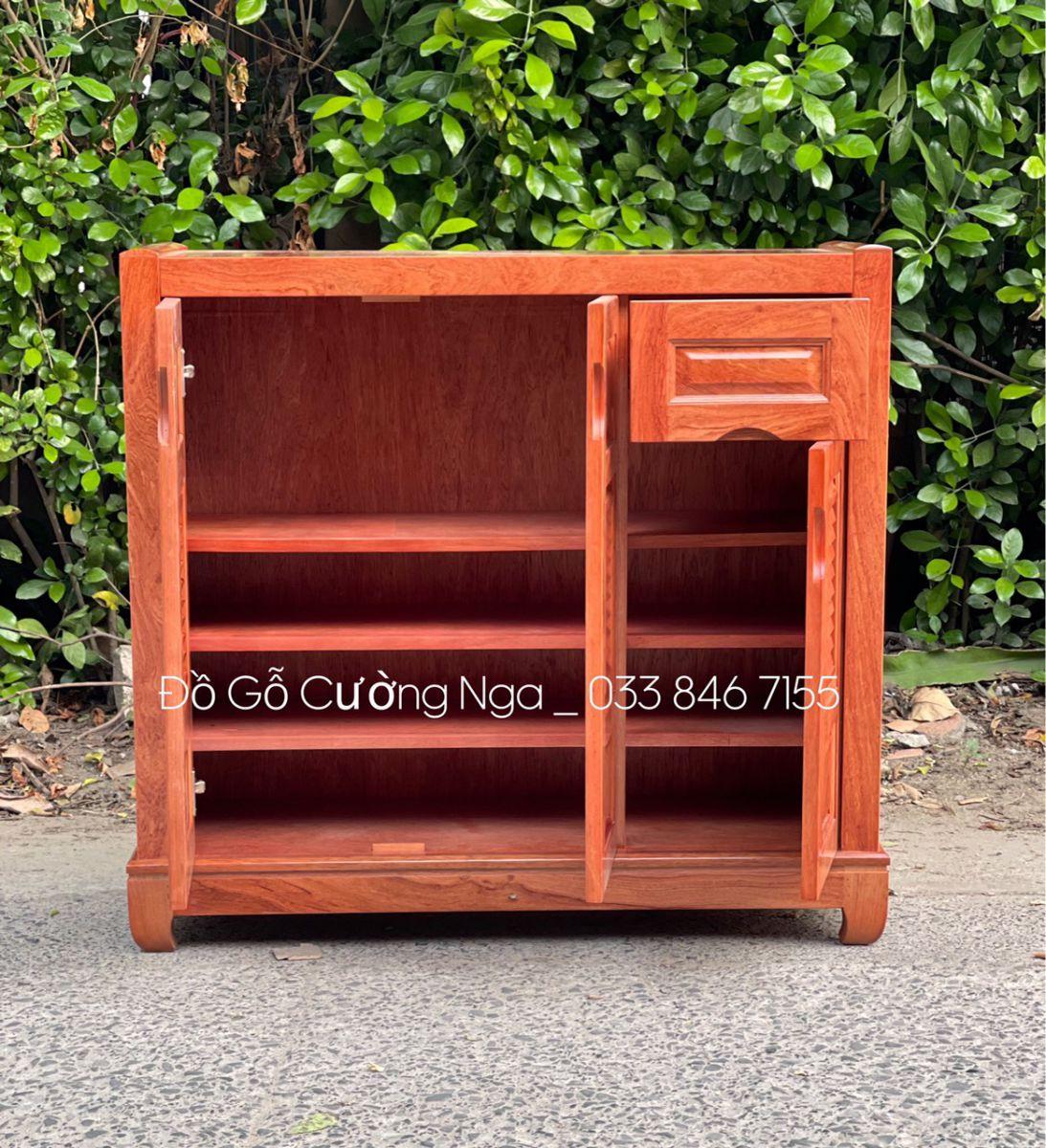 Tủ giày dép gỗ Hương Đá 1m