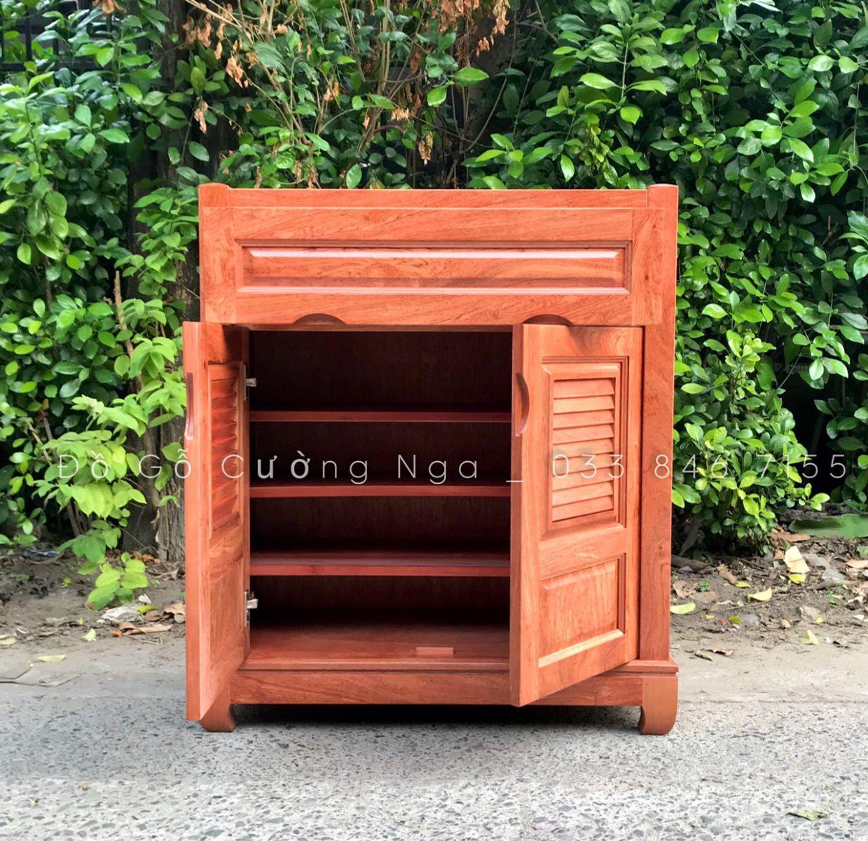Thiết kế tủ giày gỗ hương