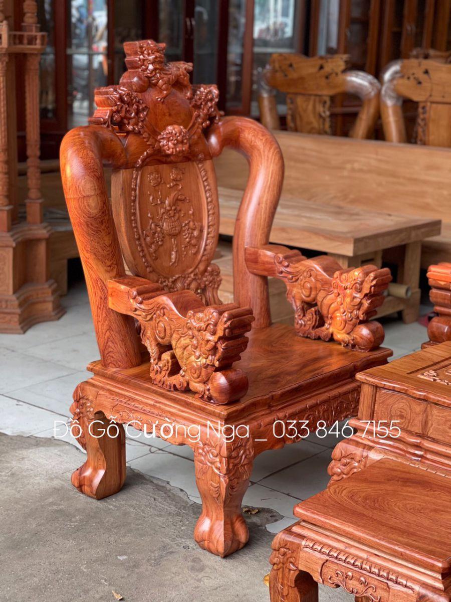 salon gỗ hương