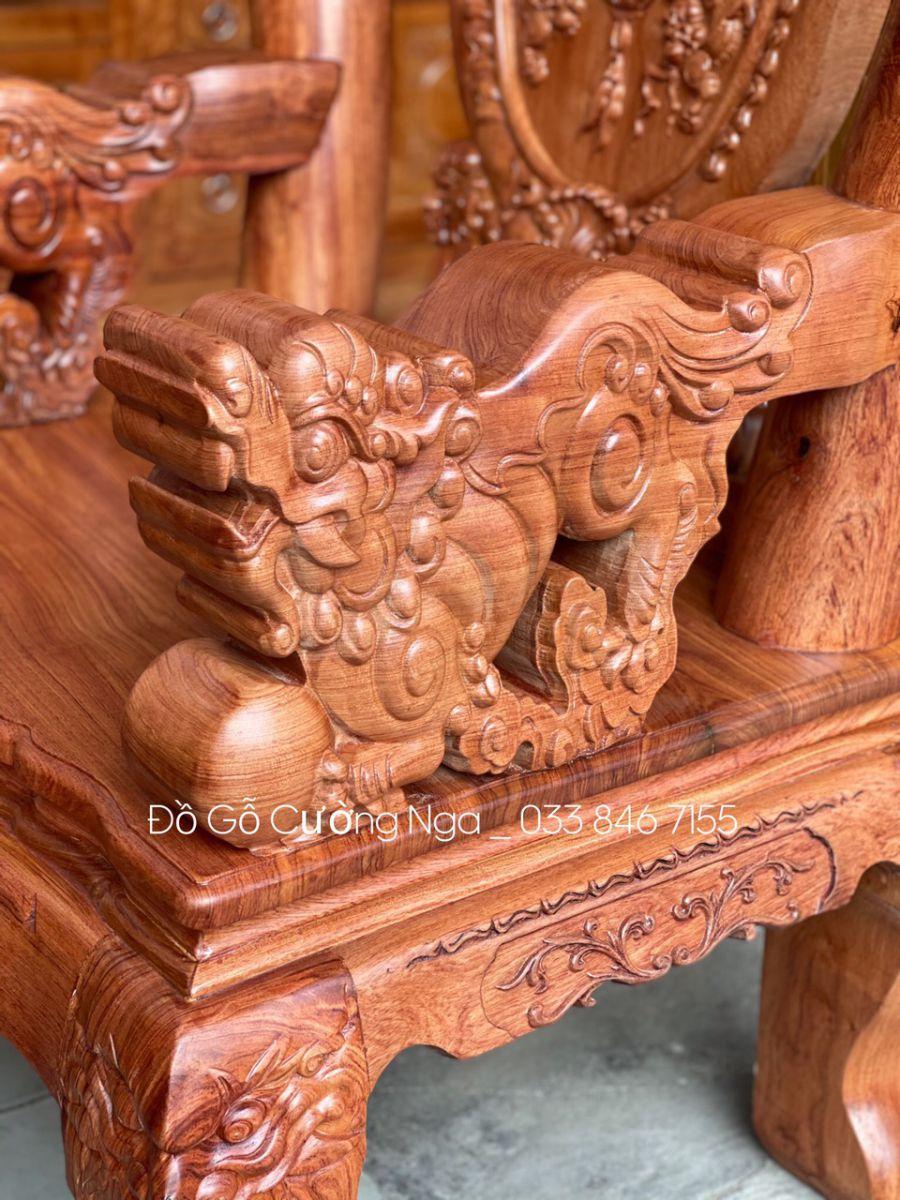salon gỗ hương đá