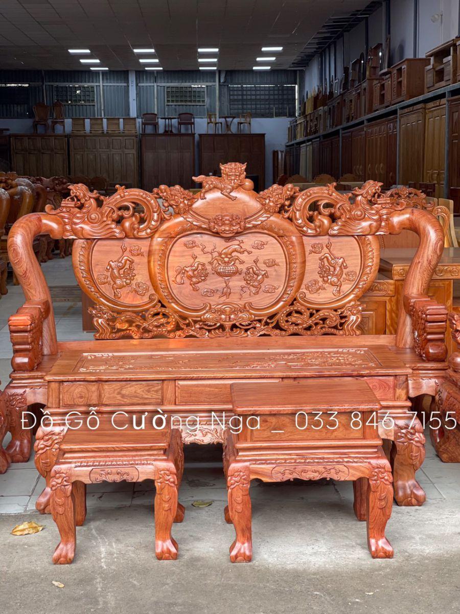 bộ salon gỗ hương đá