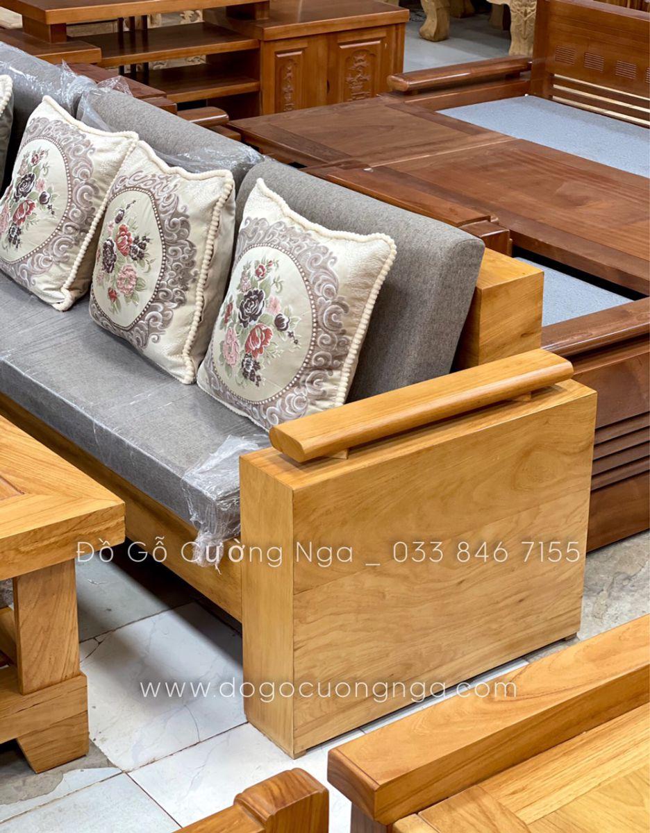 sofa gỗ gõ đỏ