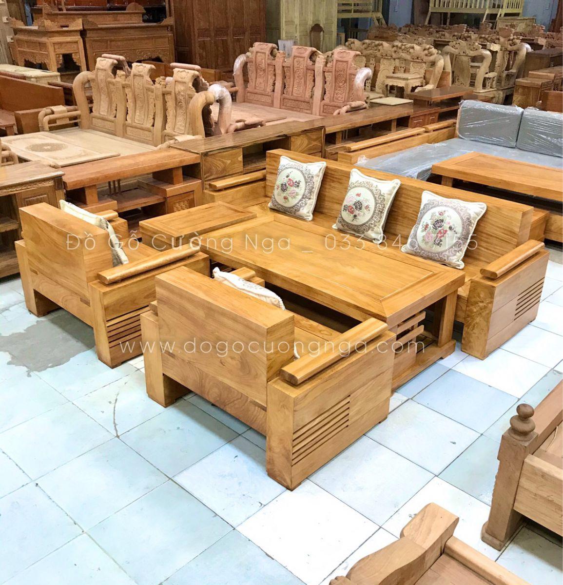 bộ sofa gỗ gõ đỏ cao cấp