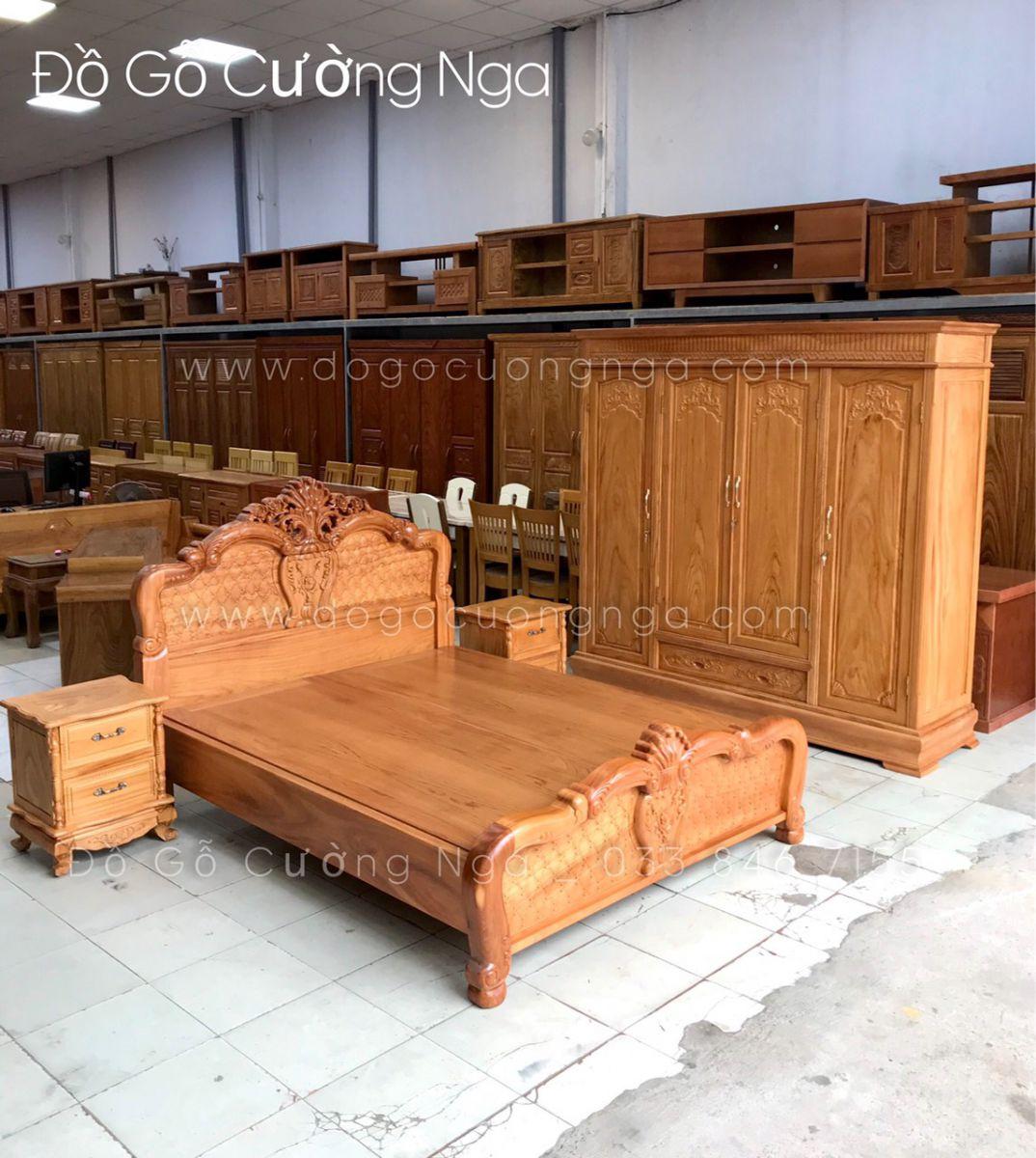 comho giường tủ gỗ gõ đỏ
